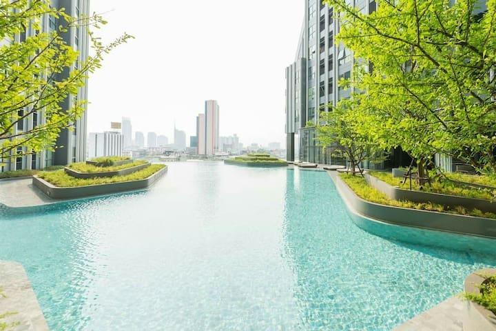 BANGKOK CENTER/ RAMA 4/ MRT SAMYAN/ CHINA TOWN - 曼谷 - 公寓