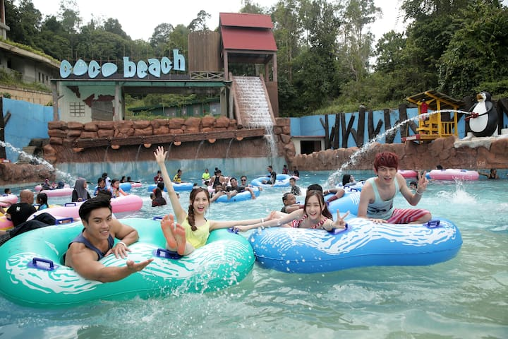 [2D1N] Water Park + Safari Park + Hotel for 4 pax
