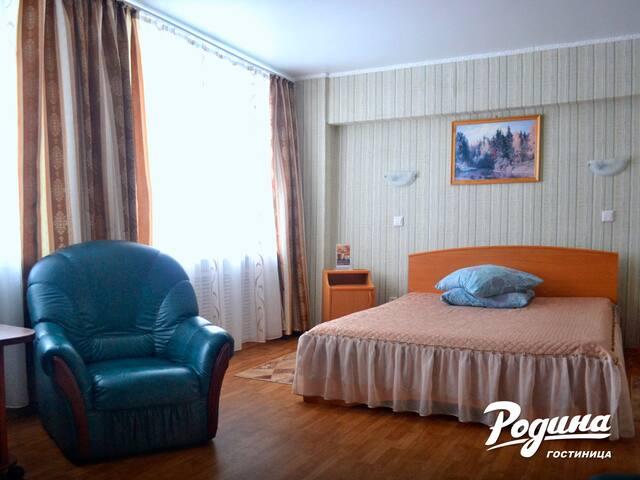 """Одноместный """"Полулюкс"""" с 2-сп. кроватью и диваном - Kirov - อื่น ๆ"""