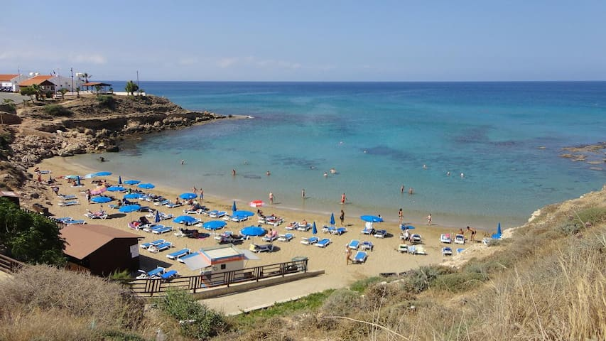 Cute apt. 300mt. to nice beach+wifi - Paralimni - Pis