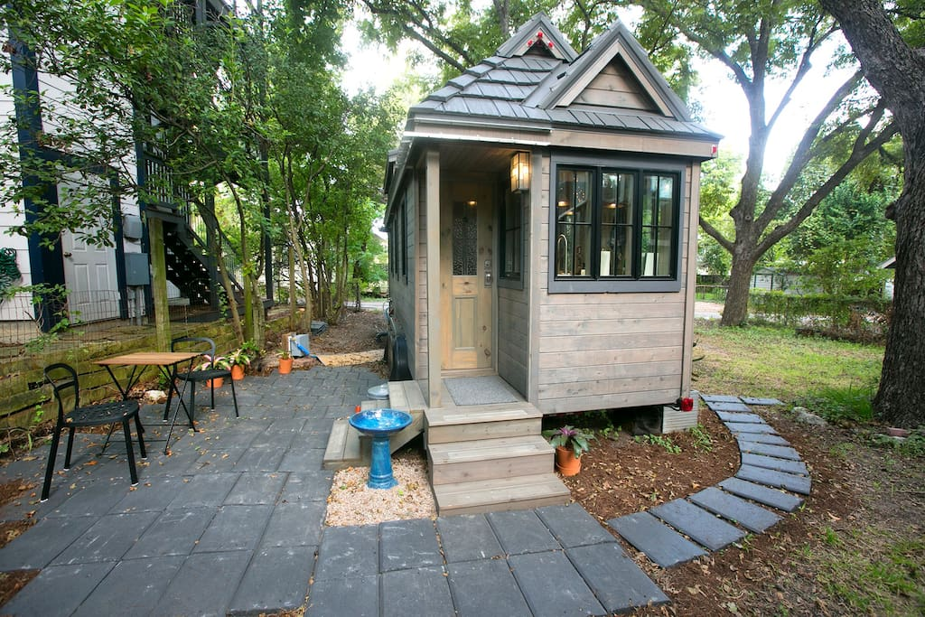 Lovingly crafted Tiny House entrance.