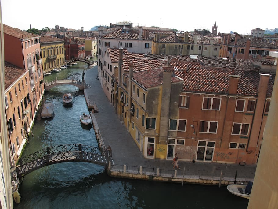 Venice view from the window