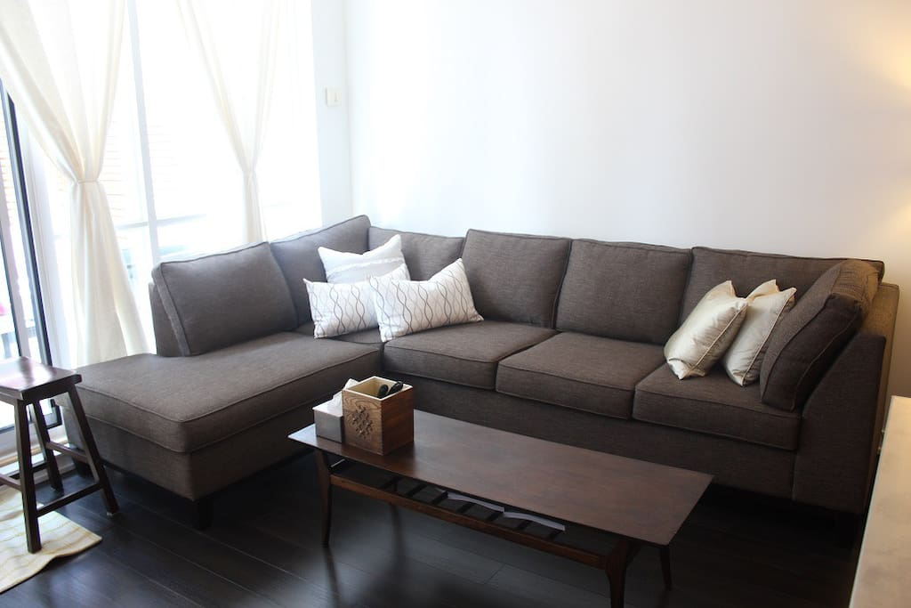 Comfortable and Huge Sectional Sofa with Coffee Table