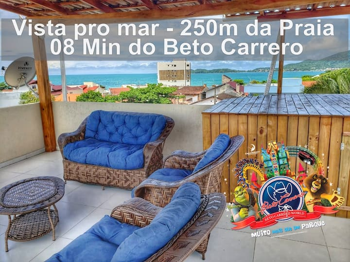 Apto com lounge vista pro Mar, Próx do BETO,Centro