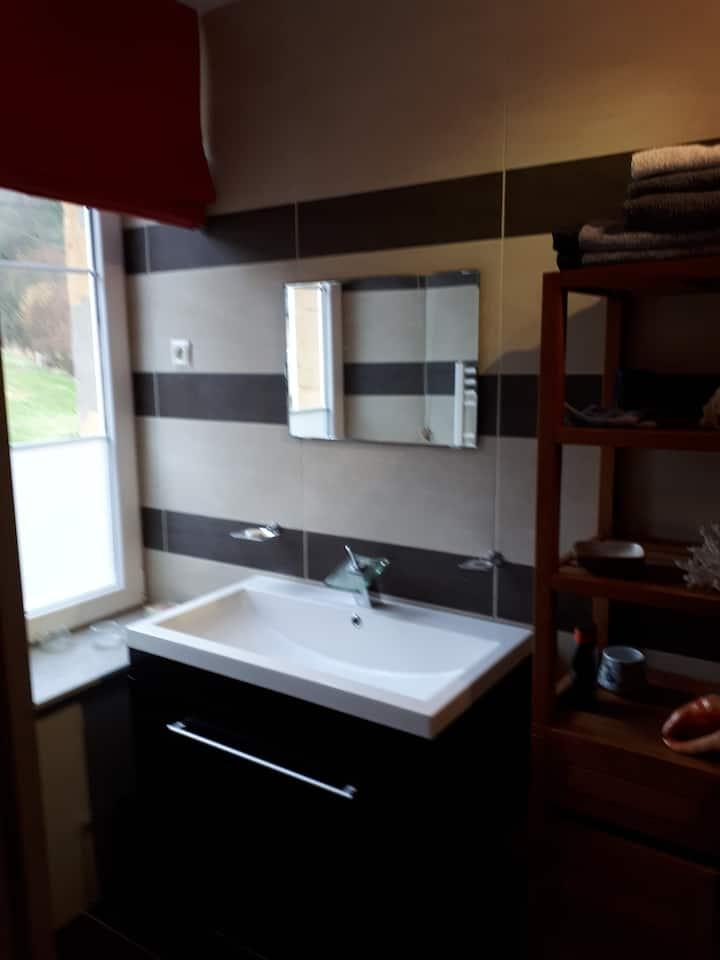 1 chambre 2 personnes avec salle de bain privée