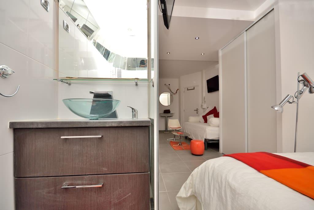 Sink + Bedroom