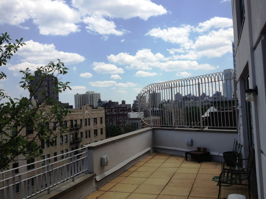 440 SF LARGE PRIVATE TERRACE WITH VIEWS OF CENTRAL PARK