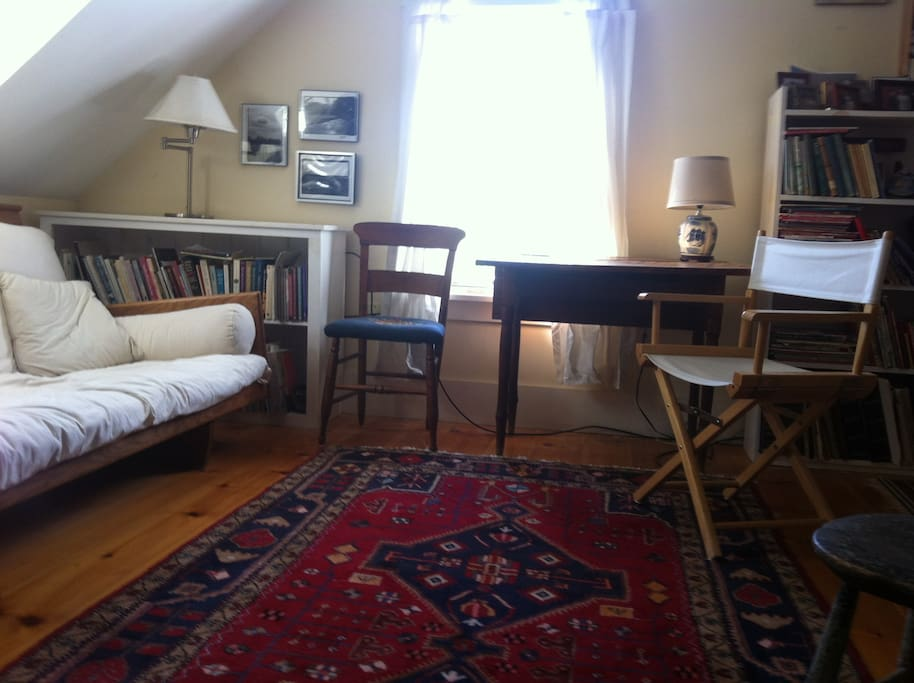 Sitting Room on Second Floor of Rustic Charming Farmhouse on Coast of Maine