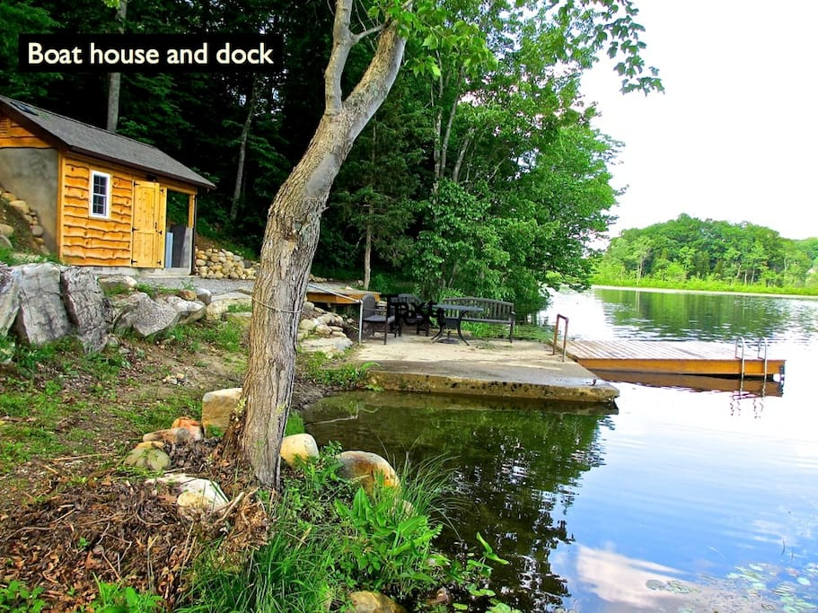 The boat house and dock are for the private use of the guests.