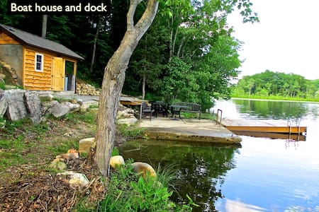 Lakefront Cabin on 10 private acres - Cabane