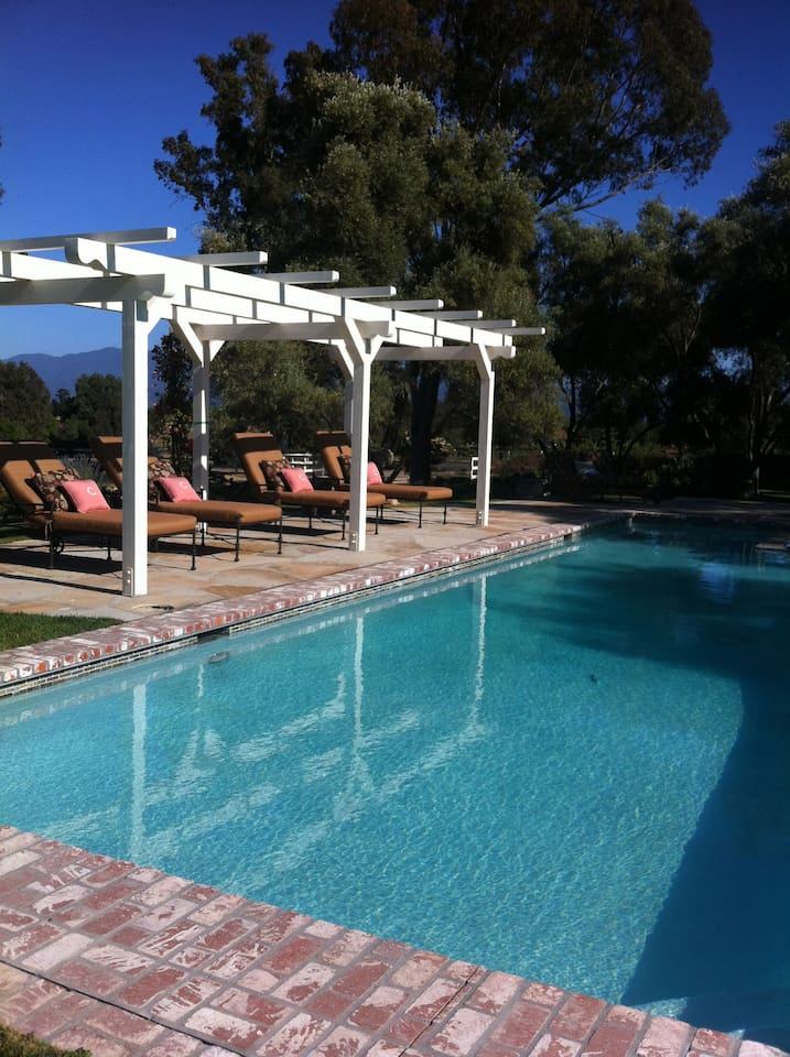 Enjoy a swim or hot tub after a wonderful day out and about in The Santa Ynez Valley!