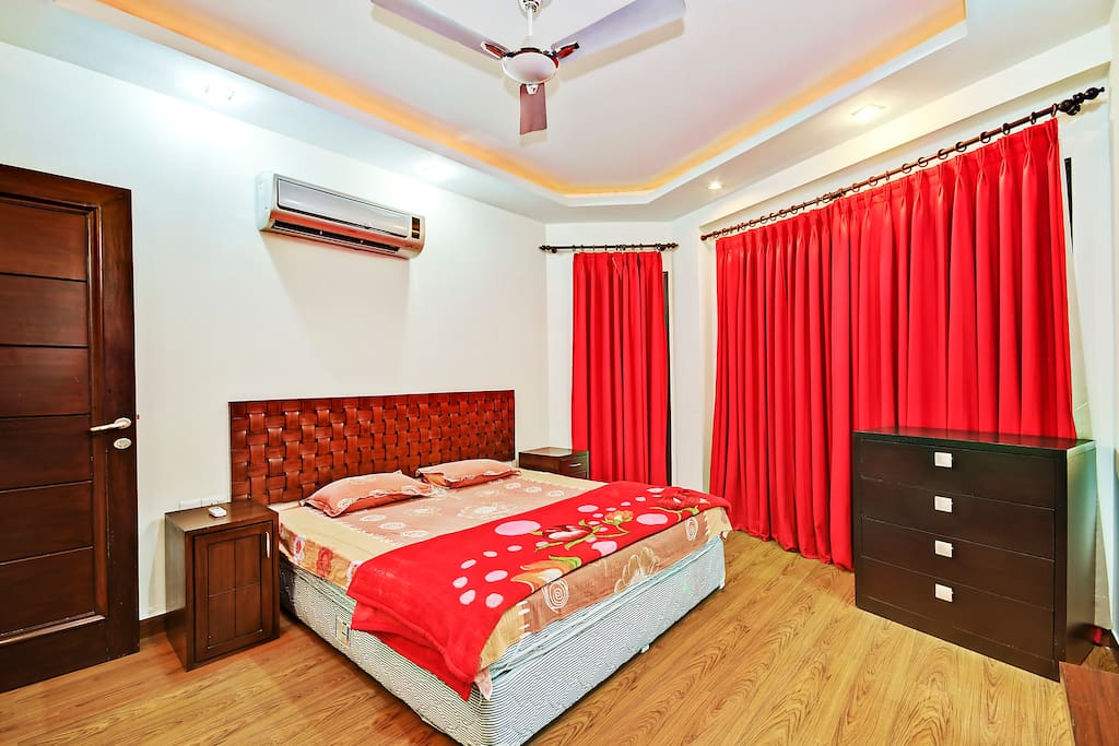 Bedroom with attached bathroom , wardrobe , Lcd Tv , Wifi etc