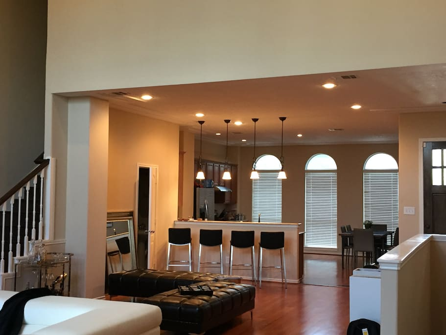 Large spacious open concept living room and lounge area awaiting your arrival
