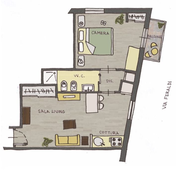 sanremoholidays, map of the apartment