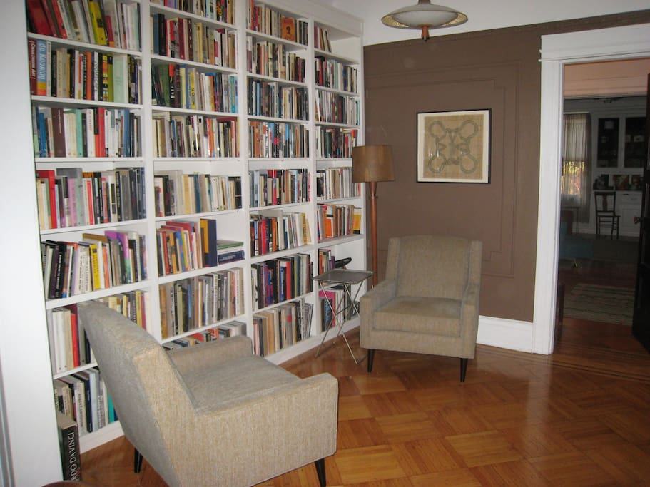 Comfortable library room for reading