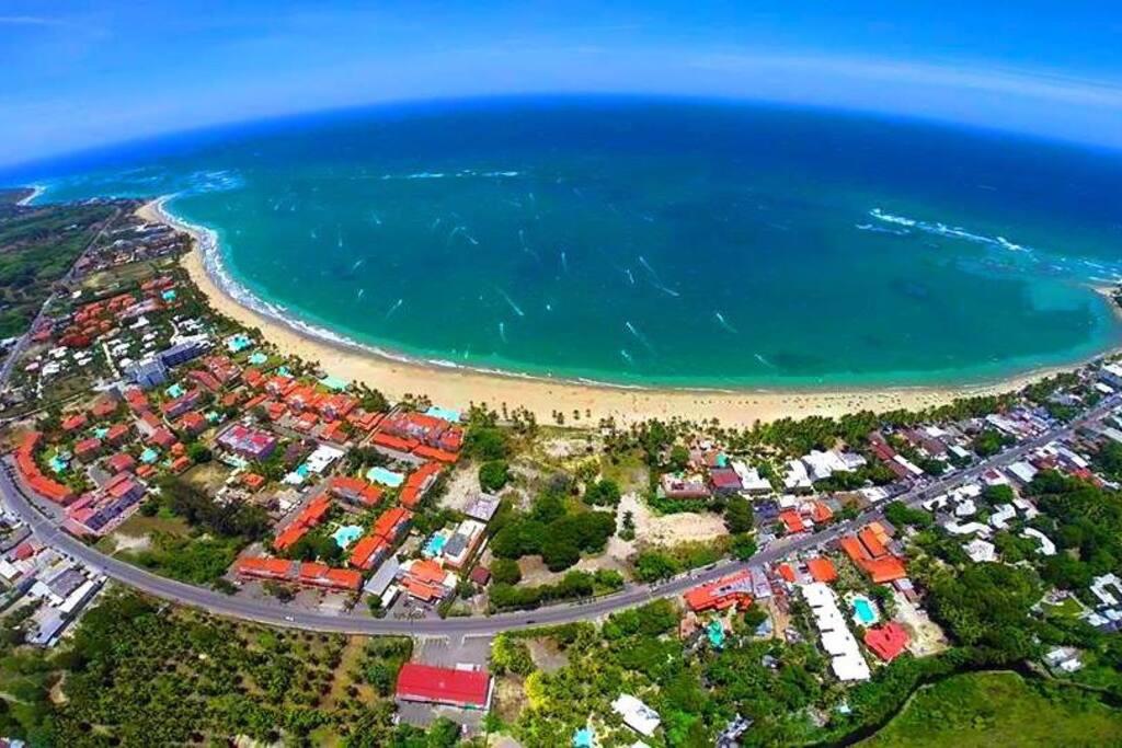 Cabarete Town - Kitesurfing/windsurfing bay
