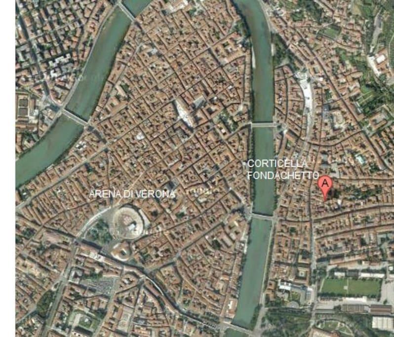 Vicino arena di verona x 4 persone appartamenti in - Distanza tra stazione porta nuova e arena di verona ...