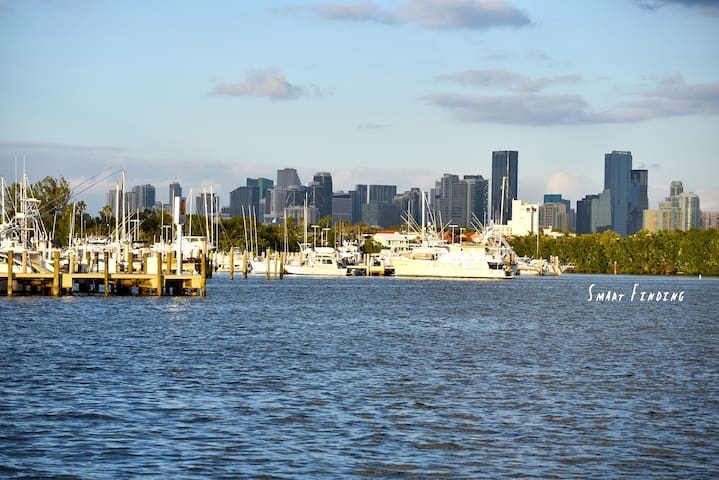 View of downtown and brickell miami