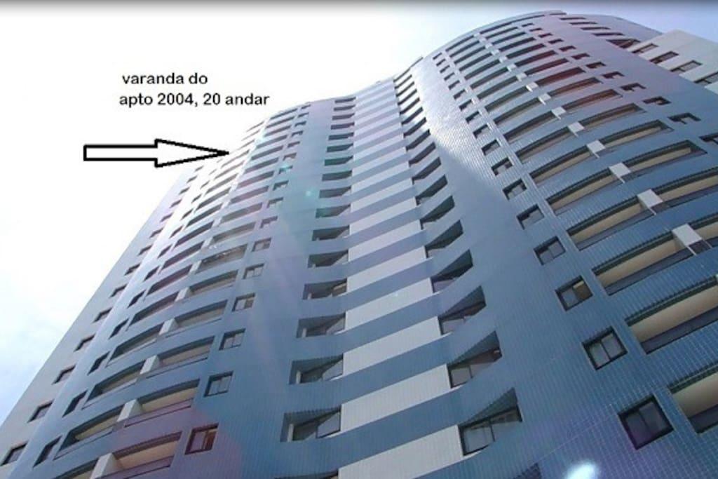 piso 20 (20 andar) edificio familiar.