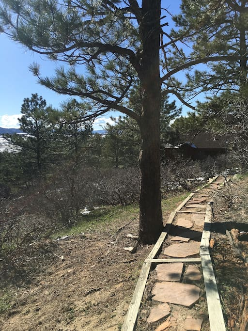 Path to Cabin from parking by main house