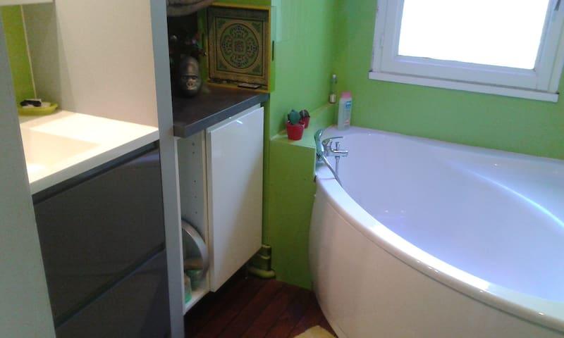 salle de bain réservée aux hôtes lors de leur séjour