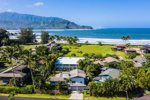 Hanalei Oasis Steps from the Beach