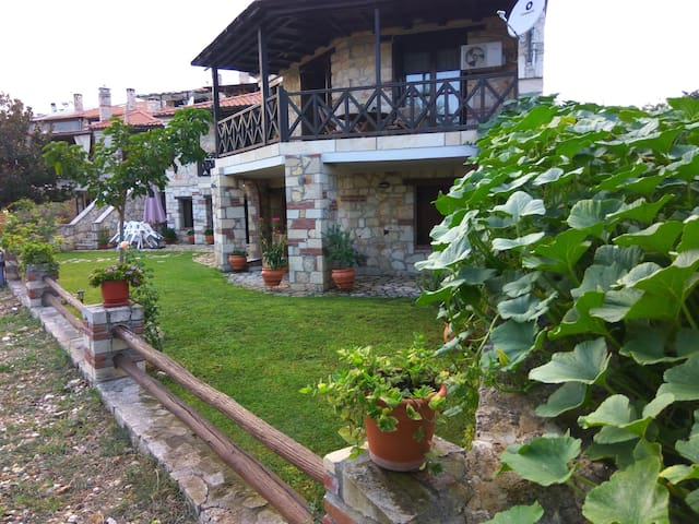 A Beautiful Traditional Stone Villa in Chalkidiki