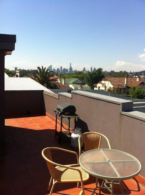 Amazing rooftop terrace which is all yours!
