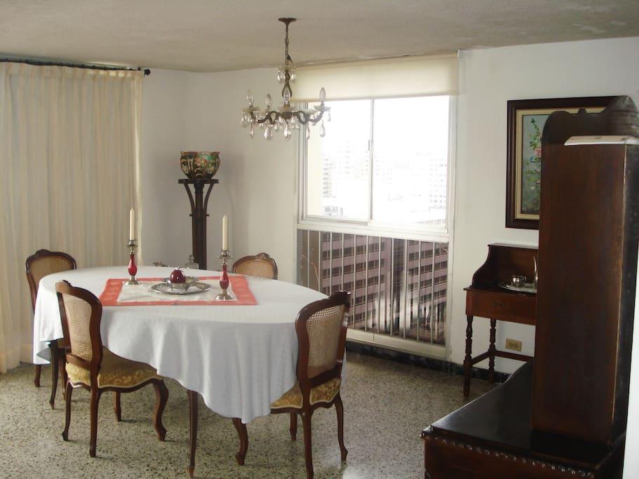Very spacious dining room.