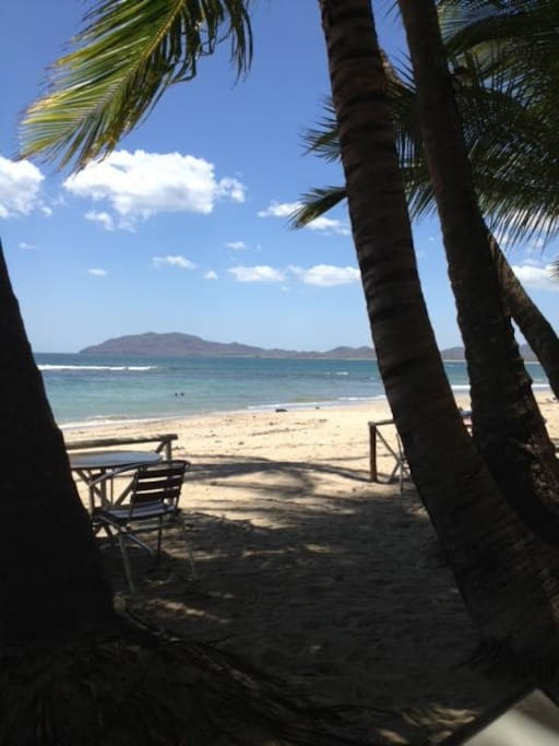 Here is the beach, just a short walk from the cabins!