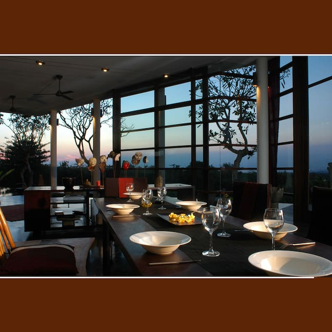 dining and open plan living...