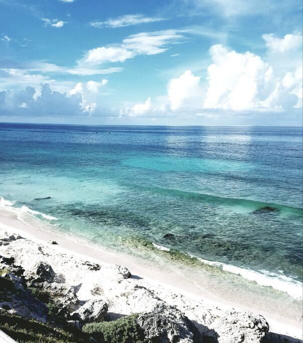 Playa de puerto morelos. Puerto morelos beach.