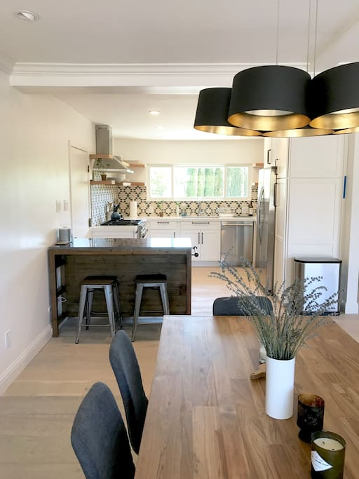 8 Seat Dining Table and Kitchen