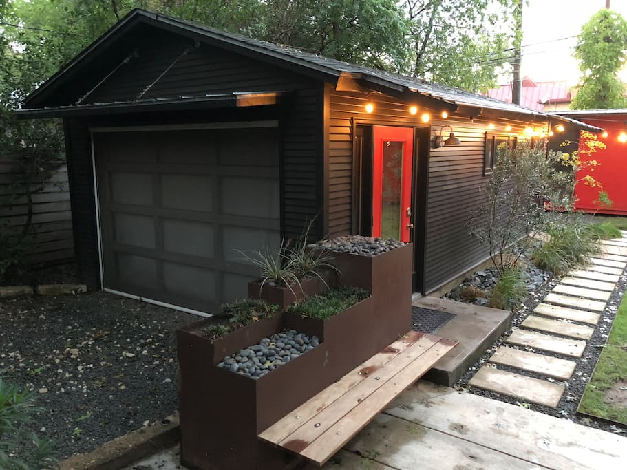 Modern landscaping and quaint austin touches give you a taste of Austin living!