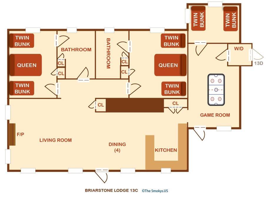 Briarstone Lodge Condo 13C-Floor Plan