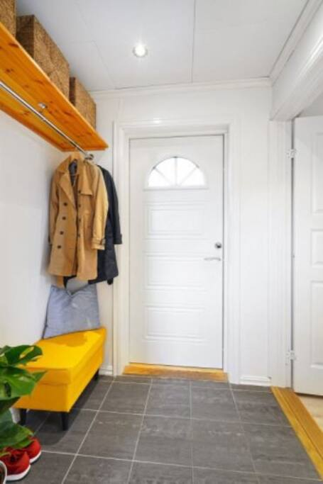 Private entry with heated floors