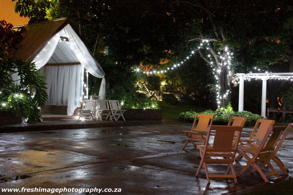 The Wedding Chapel with fairy lights