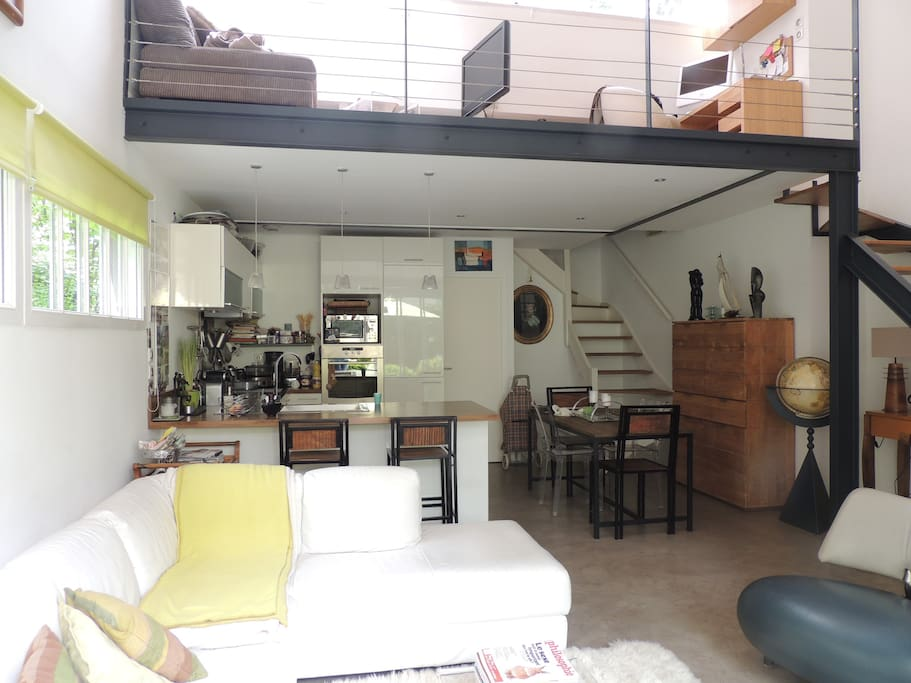Appartement de charme style loft lofts louer courbevoie le de france - Achat loft ile de france ...