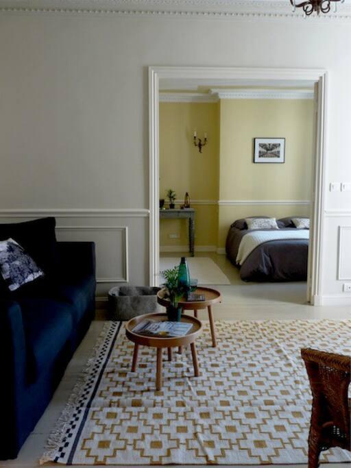 living room and bedroom / salon-pièce à vivre et chambre