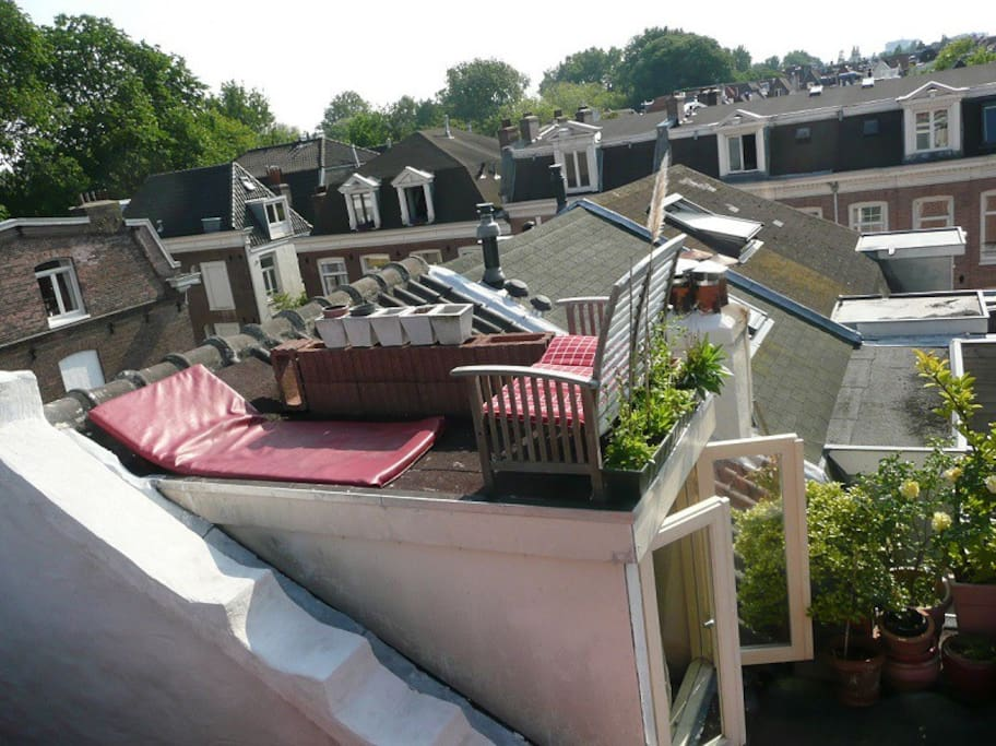 Rooftop terrace for the typical Amsterdam feel