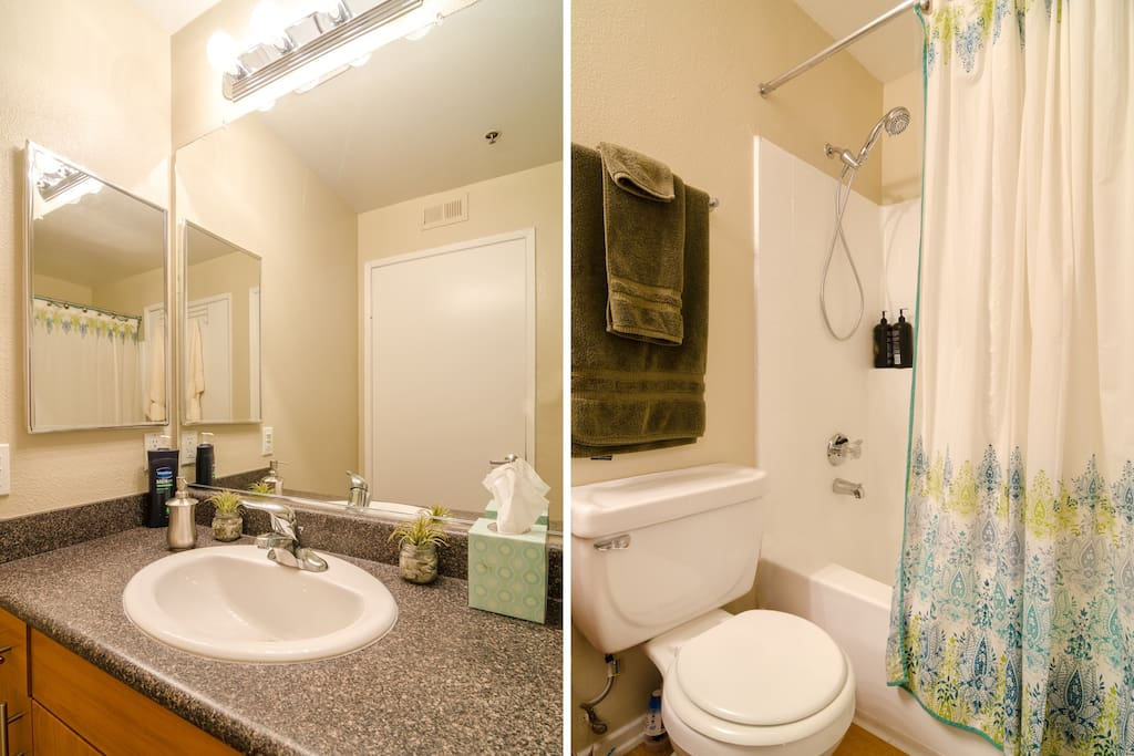 Towels and basic toiletries are included in your private bath which is attached to the bedroom.