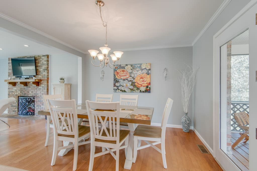Beautiful Dining Area Open to Kitchen and Living Area