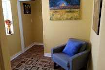 Sitting area when you first walk in