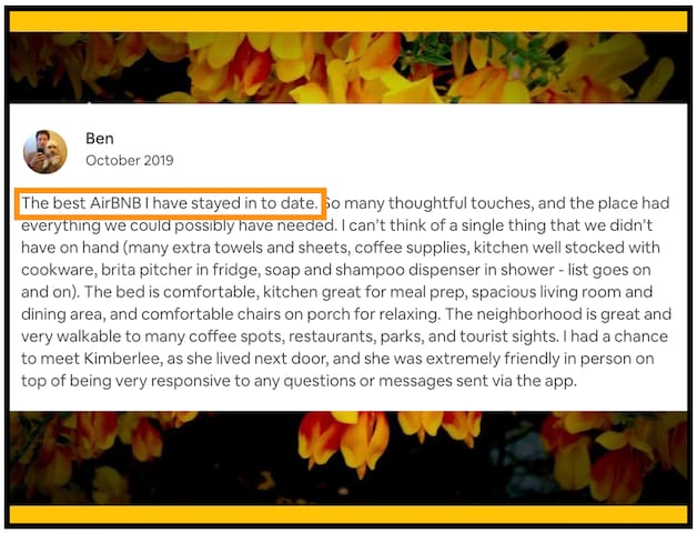 October 2019 guest review from Ben.