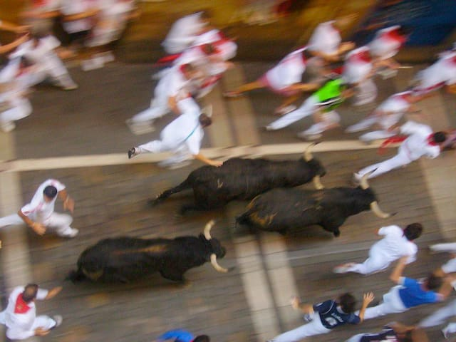 San Fermin Bull Running Balconies ESTAFETA - Pamplona - Hus