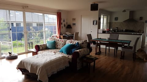 Room in pretty modern house in great location.