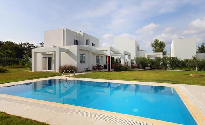 The Three-bedroom Villa with a private pool and a view of the Ionian Sea