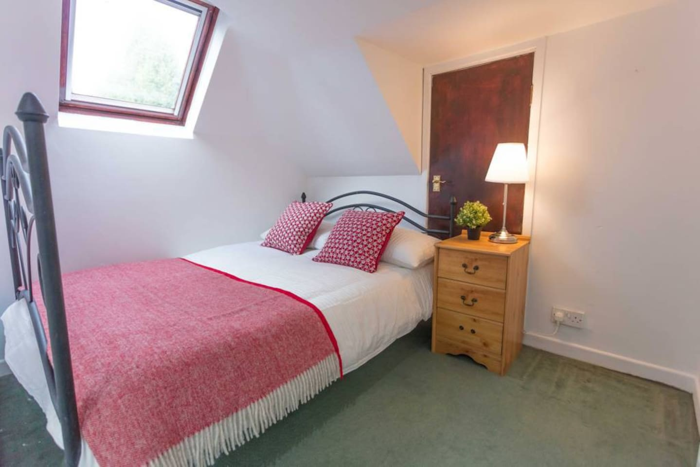 your cosy double bedroom based in an attic