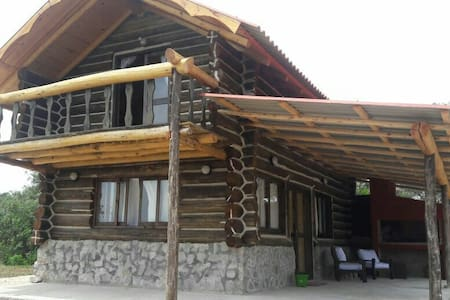 Cabaña de troncos, en playa Serena - La Paloma, Rocha, UY - Casa