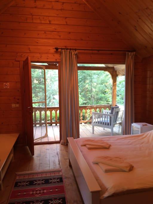 oda içi ve veranda